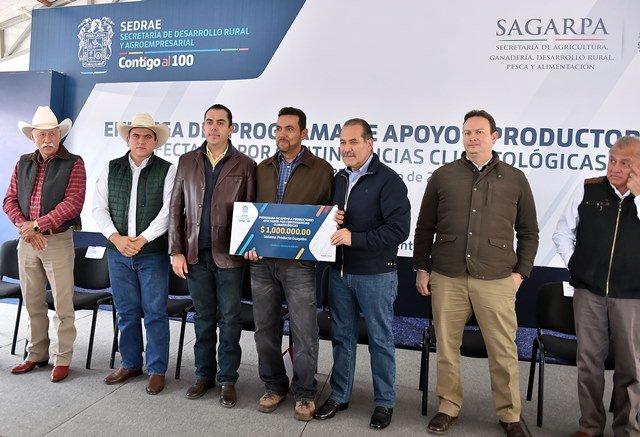 ¡Apoyo gubernamental de 30.8 mdp en favor de productores y en infraestructura educativa en Calvillo!