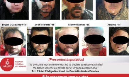 ¡Fuerzas Especiales de la Fiscalía de Jalisco capturaron a 9 sicarios con un arsenal en Mexticacán!