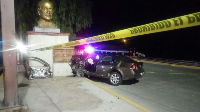 ¡Trágico accidente en Aguascalientes dejó 1 joven muerta y 4 lesionados!