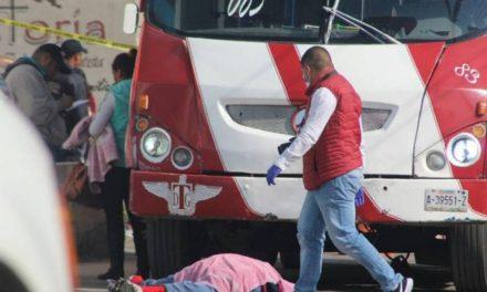 ¡Mujer de la tercera edad murió atropellada por un camión urbano en Guadalupe, Zacatecas!