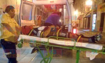 ¡2 ciclistas lesionados tras ser embestidos por una camioneta en Lagos de Moreno!