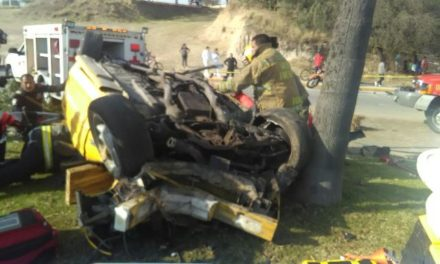 ¡Volcadura de automóvil en Aguascalientes cobró su segunda víctima mortal!