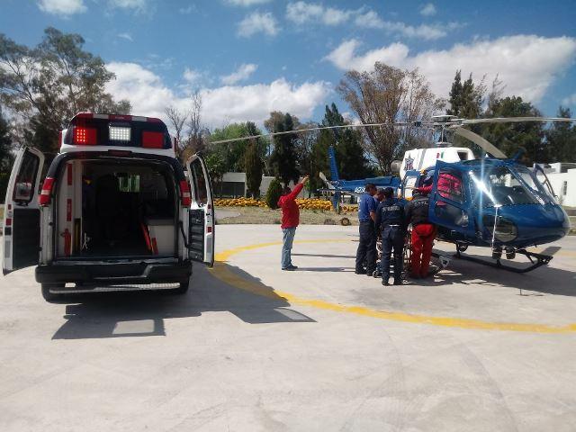 ¡Hombre lesionado en el Cerro del Picacho en Aguascalientes fue rescatado en helicóptero!