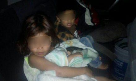 ¡Policías municipales rescataron a 3 niños abandonados en Aguascalientes!