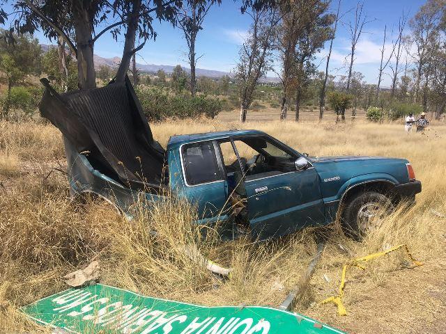 ¡Choque entre una camioneta y un automóvil dejó 1 muerto y 3 lesionados en Aguascalientes!