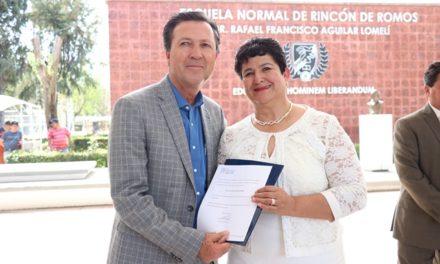 ¡Nombran nueva directora de la Escuela Normal de Rincón de Romos!