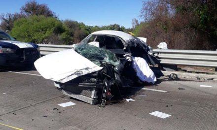 ¡Una persona muere al estrellar su auto contra un Ómnibus en Ciudad Cuauhtémoc!