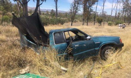 ¡Cobró su segunda víctima mortal choque entre una camioneta y un automóvil en Aguascalientes!