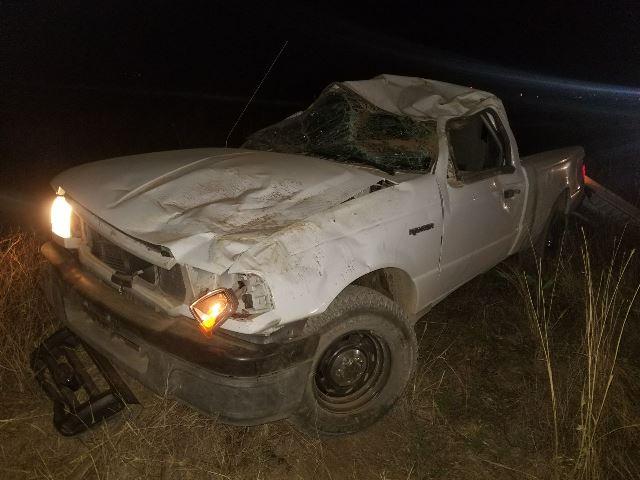 ¡Muere luego de salir eyectado al volcar su camioneta en Asientos, Aguascalientes!