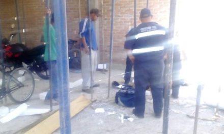 ¡Albañil lesionado tras una caída de un segundo piso en una casa en Aguascalientes!