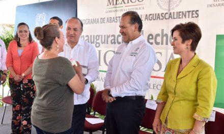 ¡Inaugura el gobernador lecherías Liconsa en apoyo a la nutrición de la población en el estado!