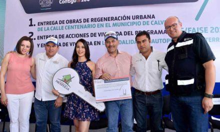 ¡Entrega MOS cerca de 24 MDP en obra carretera, acciones de vivienda y apoyos a productores en Calvillo!