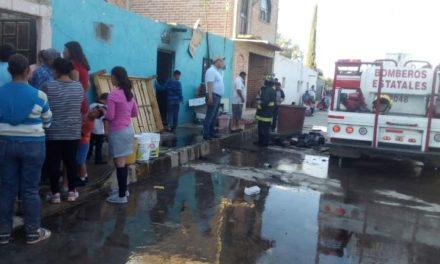 ¡Rescataron a un joven que se intoxicó tras incendiarse su casa en Aguascalientes!
