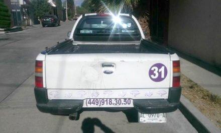Vehículo con reporte de robo localizado por la Policía Municipal de Aguascalientes