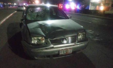 ¡1 muerto y 1 lesionado tras ser atropellados por un automóvil en Aguascalientes!