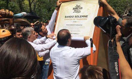 ¡Colocan el Bando Solemne de la Edición 190 de la Feria Nacional de San Marcos!