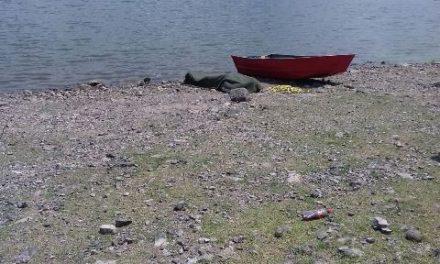 ¡Rescataron el cuerpo del hombre ahogado en una presa en Lagos de Moreno!