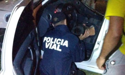 ¡Grave policía estatal que en su auto particular chocó contra un árbol en Aguascalientes!