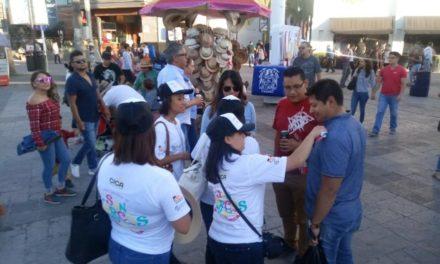 ¡ISSEA realiza acciones de prevención de adicciones en la Feria Nacional de San Marcos!