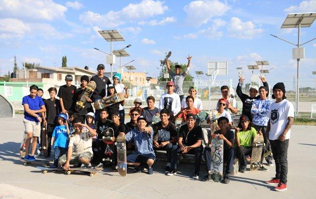 ¡Gran entusiasmo de patinadores en Pabellón de Arteaga!