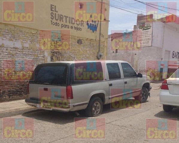 ¡Aseguraron una camioneta baleada en Lagos de Moreno!