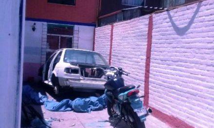 ¡Asegura la SSPE una casa utilizada para desmantelar vehículos robados en Aguascalientes!