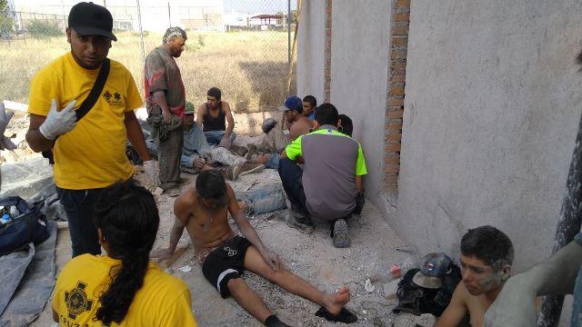 ¡15 albañiles originarios de Jalisco resultaron lesionados tras un derrumbe en Aguascalientes!