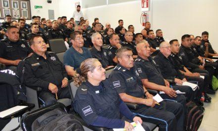 ¡Policías de Jesús María y San Francisco de los Romo en curso de competencias básicas de la función policial!