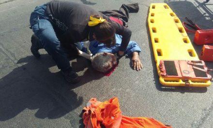 ¡Espantosa muerte tuvo un ancianito tras ser atropellado por un auto en Aguascalientes!