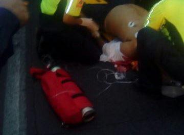 ¡Un hombre murió tras sufrir un infarto y accidentarse en su camioneta en Aguascalientes!