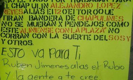 ¡Detuvieron a 3 sujetos que colocaron narco-mantas amenazantes en Aguascalientes!