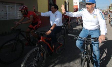 ¡Apoyaré estrategias que permitan incrementar infraestructura vial para uso de bicicleta: Toño Martín del Campo!