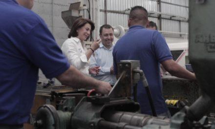 ¡Ratifica Lorena Martínez compromiso con los trabajadores de Aguascalientes!