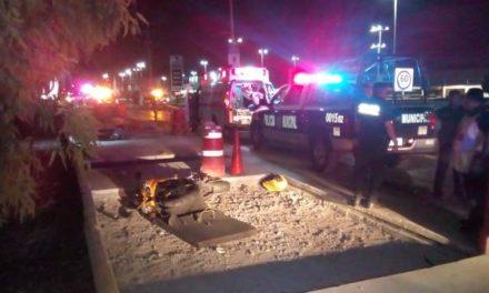¡Motociclista falleció tras ser chocado por otro en Aguascalientes!