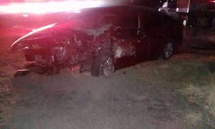 ¡5 lesionados tras choque entre un tráiler y un automóvil en Aguascalientes!