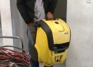 ¡Ladrón originario de Zacatecas fue detenido en Aguascalientes tras saquear una empresa mediante un boquetazo!