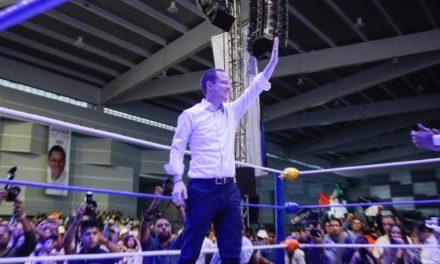 ¡Más de 12 mil personas dan afectuosa bienvenida a Ricardo Anaya en Aguascalientes!