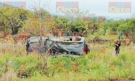 ¡Aguascalentense resultó lesionado tras volcadura de una camioneta en Lagos de Moreno!