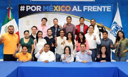 ¡Recibe Martha Márquez apoyo de liderazgos jóvenes del estado!