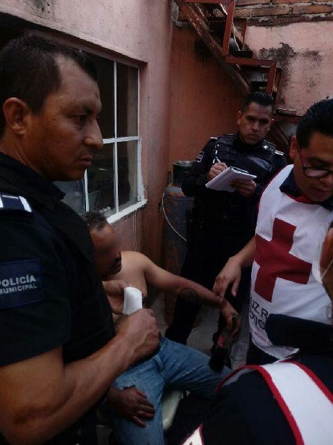 ¡Tras una discusión, sujeto le disparó a otro con un arma de postas y lo lesionó en Aguascalientes!