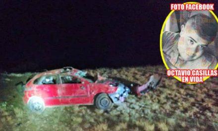 ¡Oficial de la Policía Estatal se mató tras accidentarse en su automóvil en Fresnillo!