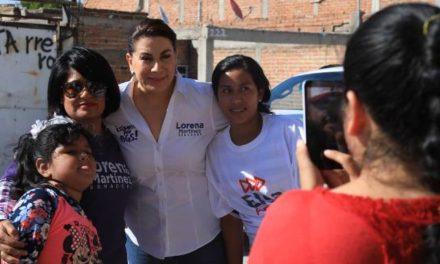 ¡Gestionará Lorena Martínez recursos para nueva línea verde en zona de Los Pericos!