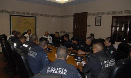 ¡Se reúne el secretario de Seguridad Pública del Estado con mandos operativos!