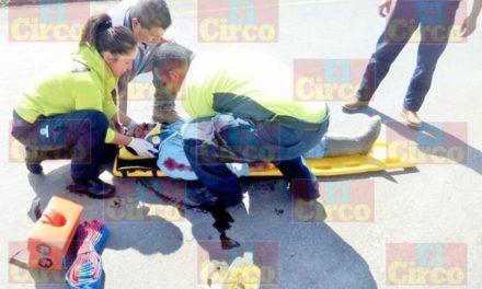 ¡Ciclista resultó lesionado tras ser embestido por un tráiler en Aguascalientes!
