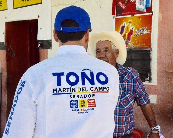 ¡Propiciar acciones a favor del cuidado al medio ambiente es mi compromiso: Toño Martín del Campo!
