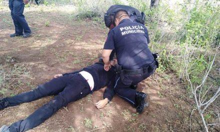 ¡Policías municipales de Aguascalientes rescataron a joven que intentó quitarse la vida a espaldas de la zona de tolerancia!