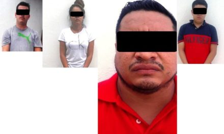 ¡Policías estatales de Aguascalientes, tras una persecución por la zona norte de la ciudad, detuvieron a 4 jaliscienses por robo tipo oportunista!