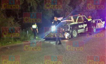¡Choque de patrullas de la Policía Municipal de Lagos de Moreno dejó 2 oficiales lesionados!
