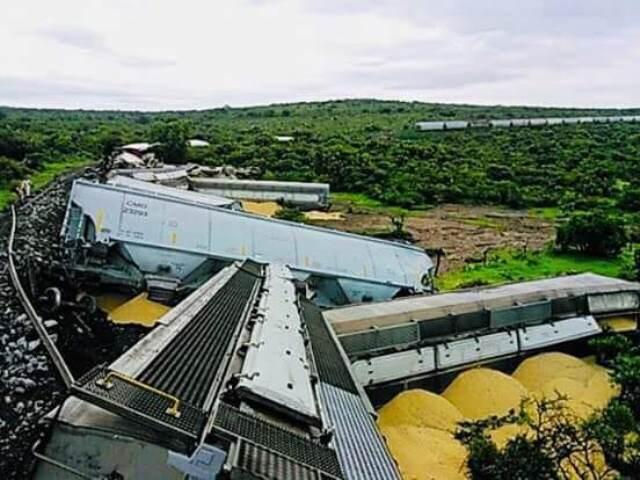 ¡Se descarriló el tren en Encarnación de Díaz, Jalisco!
