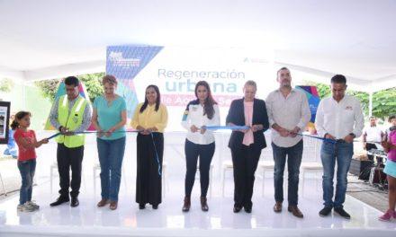 ¡Entrega Tere Jiménez obra de regeneración urbana en Aquiles Serdán!